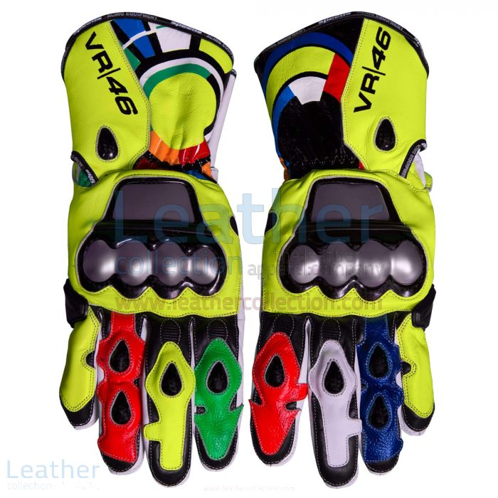 Valentino Rossi 2012 Leather Racing Gloves upper view