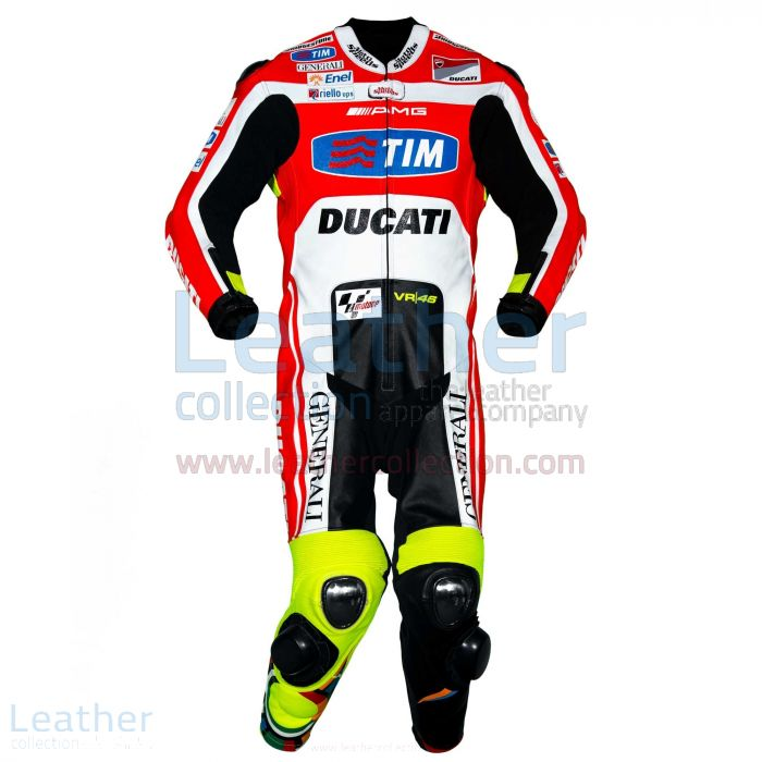 Valentino Rossi Ducati MotoGP 2011 Leathers front view