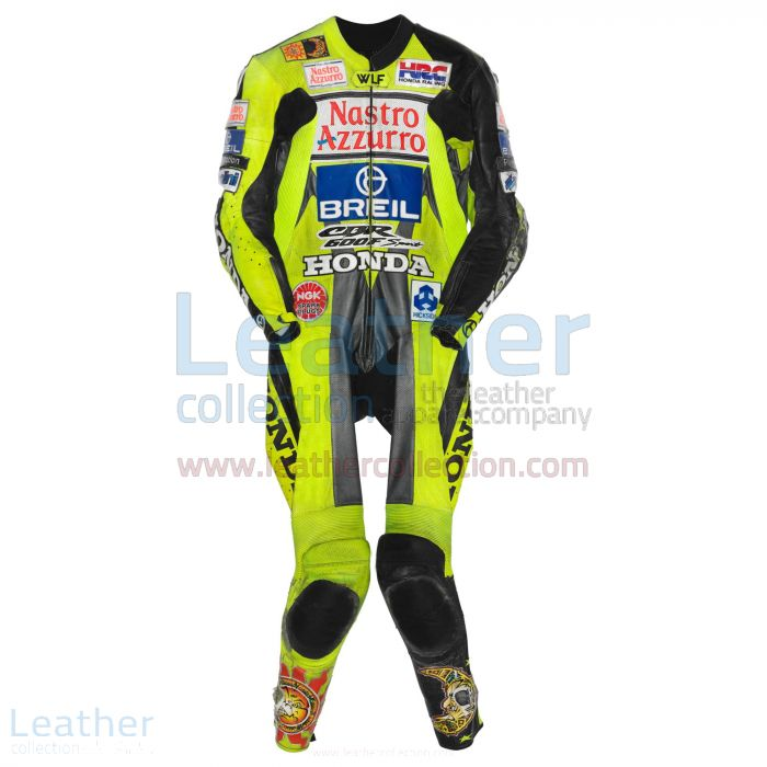 Valentino Rossi Honda CBR 600 GP 2000 Leather Suit front view