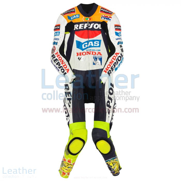 Valentino Rossi Honda MotoGP 2002 Leather Suit front view