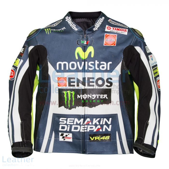 Valentino Rossi Movistar Yamaha M1 Leather Jacket front view
