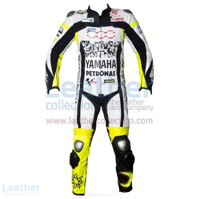 Valentino Rossi Special 500 Mila Costume de Course Vue de Face