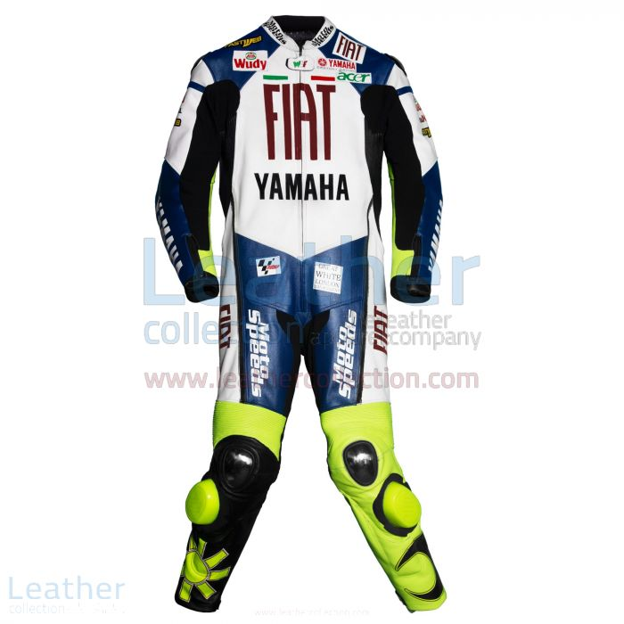Valentino Rossi Yamaha Fiat MotoGP 2007 Leathers front view