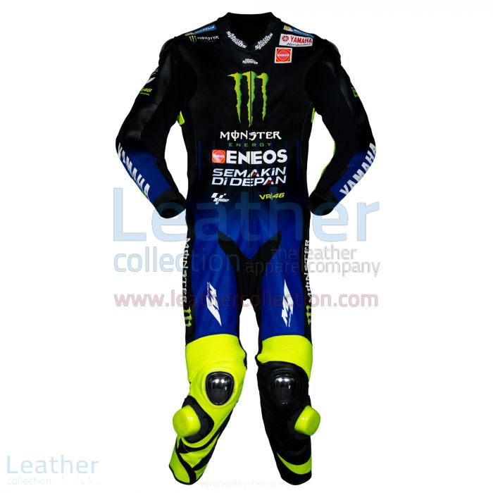 Valentino Rossi Yamaha Monster MotoGP 2019 Suit front view