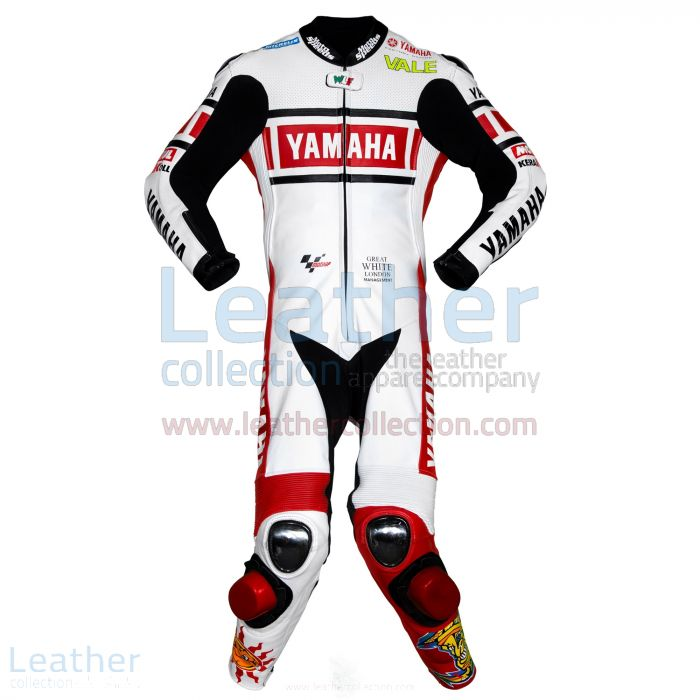 Valentino Rossi Yamaha MotoGP (Spain) 2005 Leathers front view