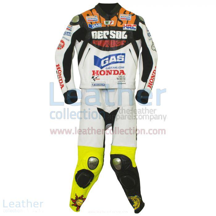 Valentino Rossi Motociclismo Repsol Honda MotoGP 2003 Suit 2 Piece front view
