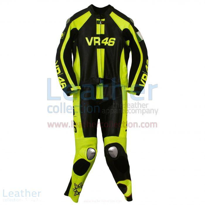 Valentino Rossi Combinaison Course Moto VR46 Vue de Face