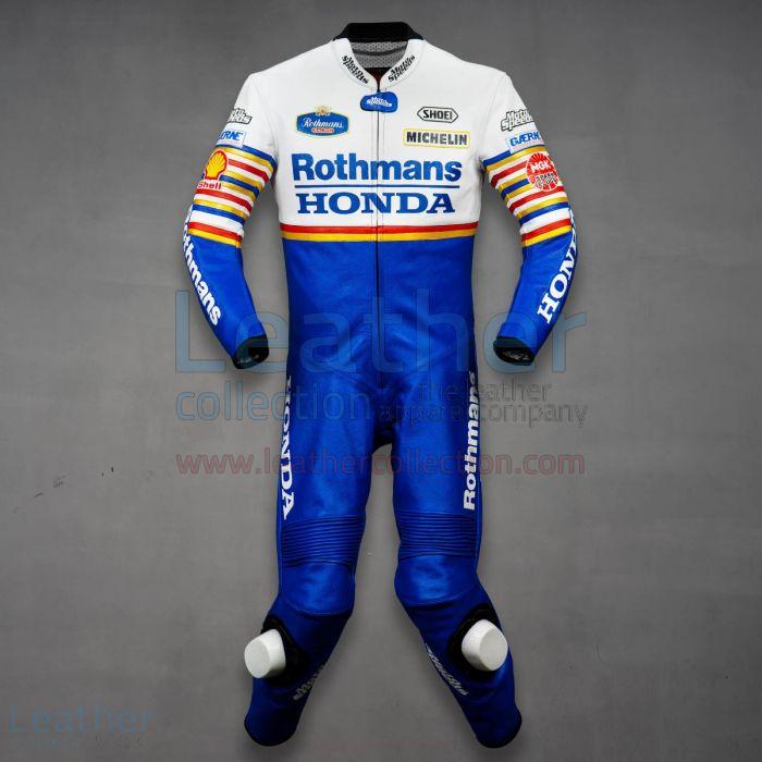 Wayne Gardner Rothmans Honda GP 1987 Leathers front view
