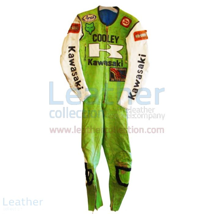 Wes Cooley Kawasaki AMA 1983 Leather Suit front view