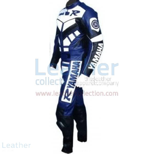 Yamaha R Racing Leather Suit Blue side view