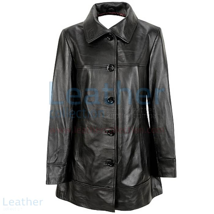 Pick up Online 6 Button Leather Coat for CA$391.69 in Canada
