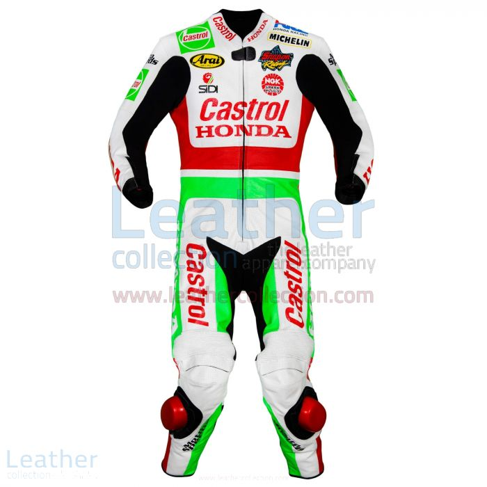 Offering Now Aaron Slight 1997 WSBK Castrol Honda Leathers for $899.00
