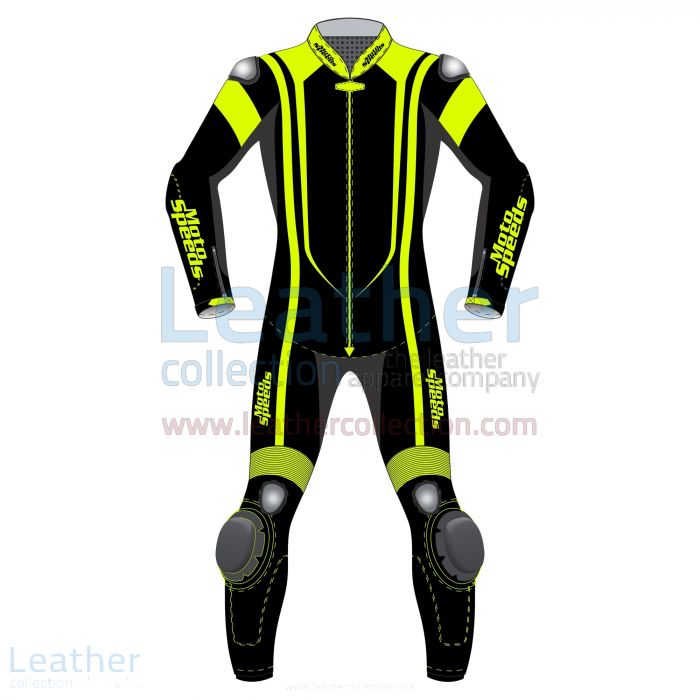 Pick Online Alpha Neon Leather Motorbike Suit for ¥81,200.00 in Japan