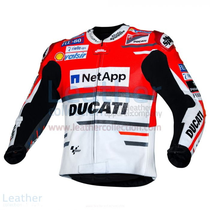 Andrea Dovizioso Ducati MotoGP 2018 Leather Jacket left view