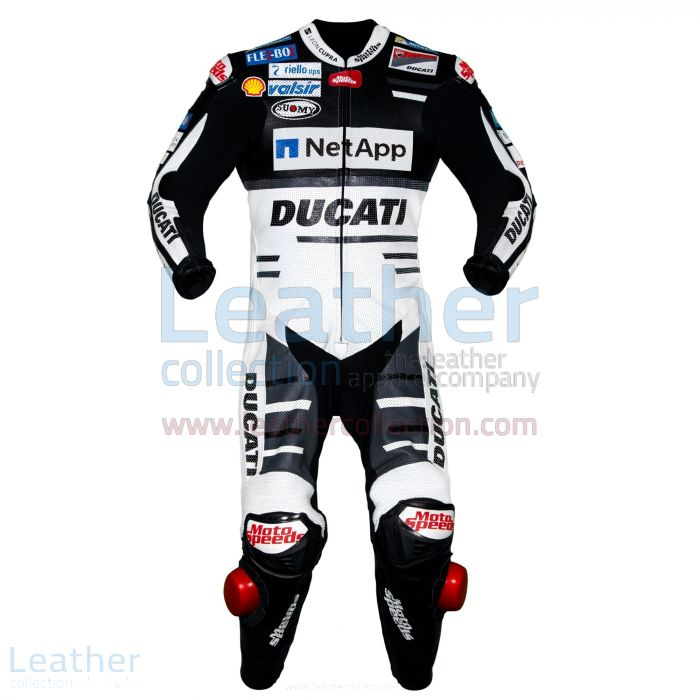 Order Now Andrea Dovizioso Ducati MotoGP 2018 Leather Suit Black for A
