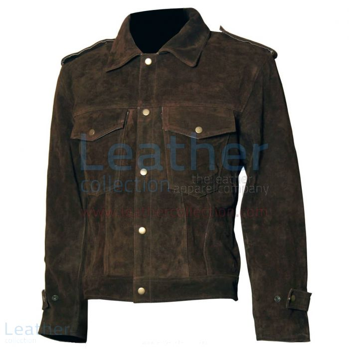 Pick up Beatles John Lennon Rubber Soul Leather Brown Suede Jacket for