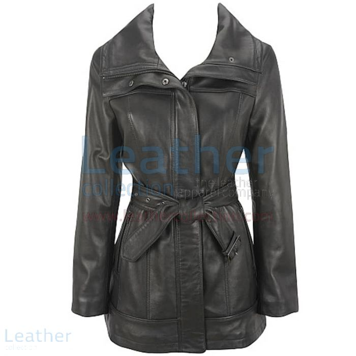 Offering Now Belted Leather Duffle Coat for SEK2,904.00 in Sweden