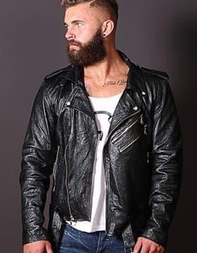 Chaquetas Hombres – Chaqueta Cuero Moto Hombre | Elegante Chaqueta | Leather Collection