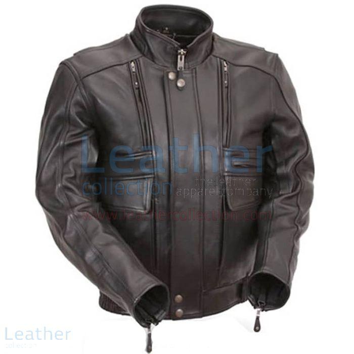 Kaufen Biker Nackt Leder Jacke mit Stretcheinsätzen