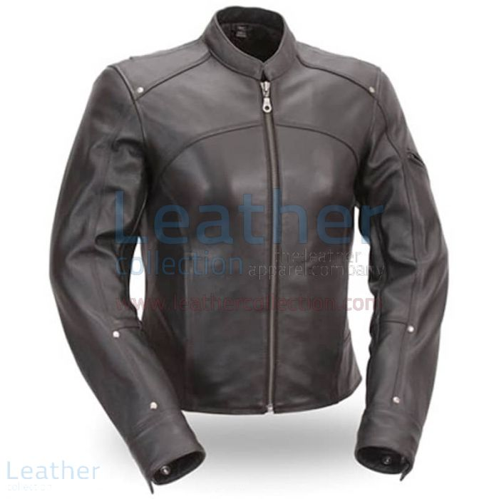 Black Leather Touring Motorcycle Jacket | Buy Now | Leather Collection