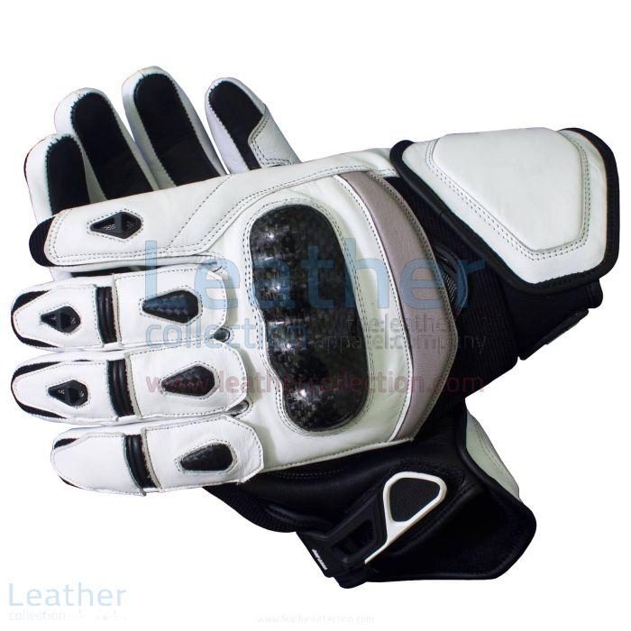 Black & White Short Motorcycle Gloves – Short Motorcycle Gloves