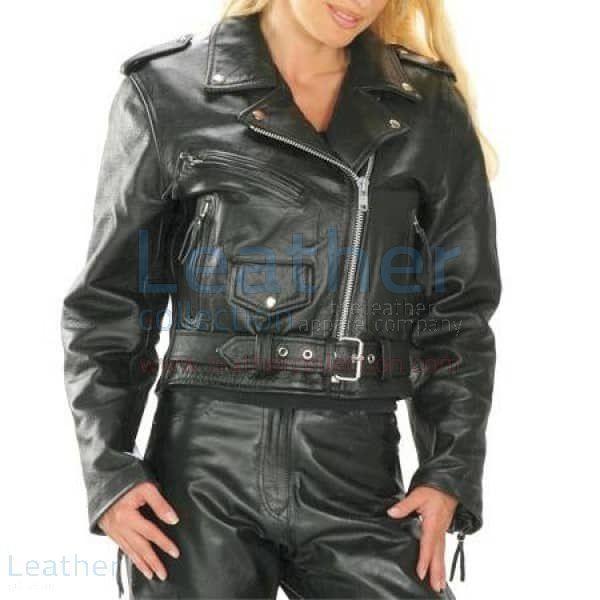 Kauf Brando Damen Radfahrer Lederjacke Leather Jacket