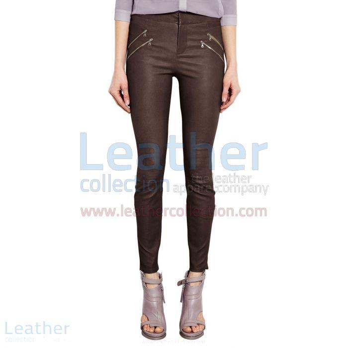 Einkaufen Braune Lederhose