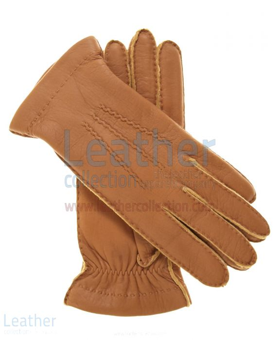 Claim Cashmere Wool Lined Beige Lambskin Gloves for SEK572.00 in Swede