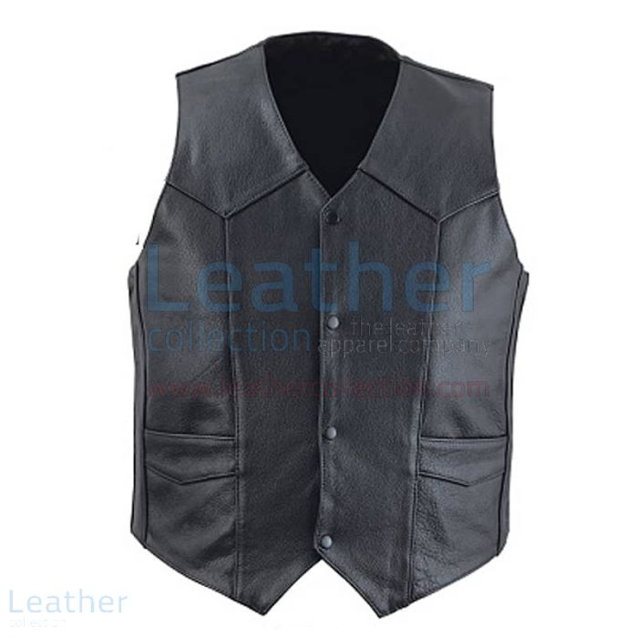 Classic Leather Vest – Classic Vest | Leather Collection