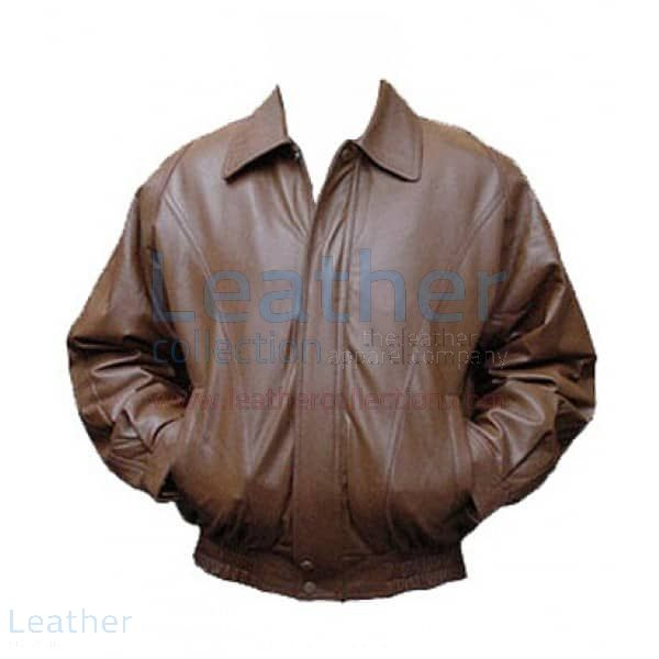 Brown Leather Pilot Jacket – Classic Brown Leather Jacket