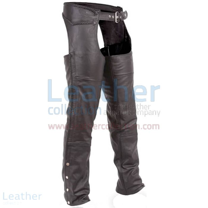 Grab Now Premium Black Leather Motorbike Chaps for CA$178.16 in Canada