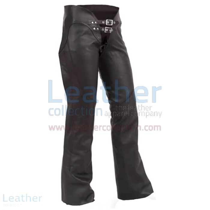 Purchase Now Double Belted Ladies Leather Chaps for $136.00