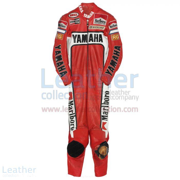 Raccoglilo adesso Eddie Lawson Marlboro Yamaha GP 1988 Tuta in Pelle