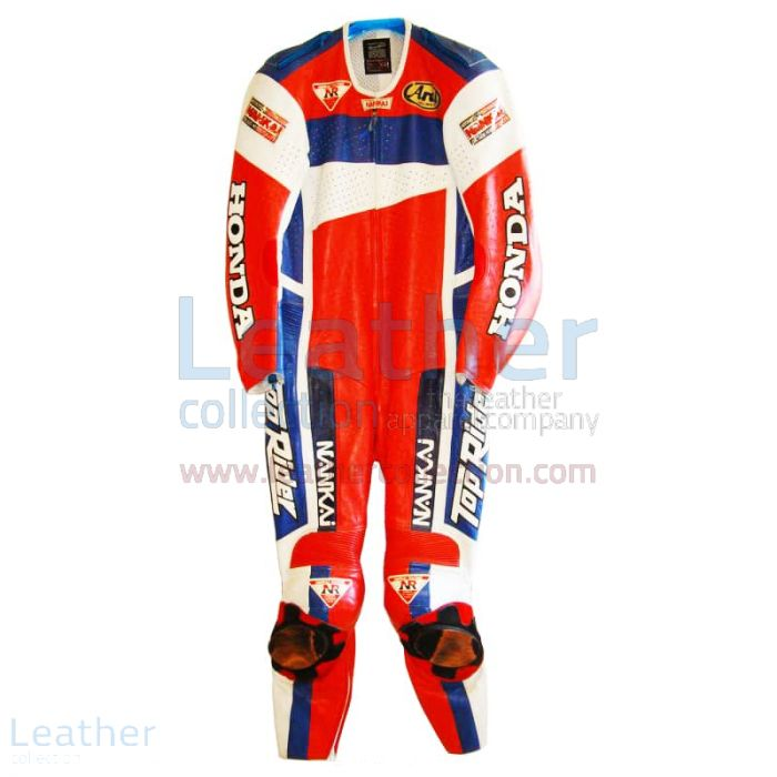 Beanspruche jetzt Freddie Spencer Nankai Honda Motorrad GP 1991 Leder