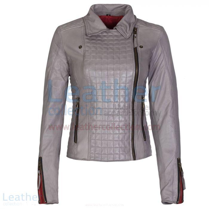Claim Heritage Ladies Fashion Leather Jacket Grey for $399.00