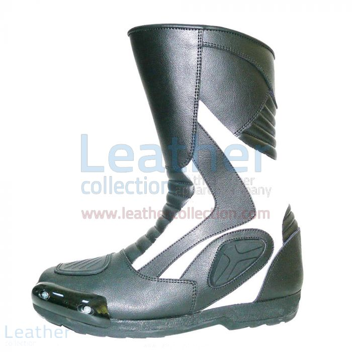 Shop Now Heritage White Leather Racing Boots for SEK1,751.20 in Sweden