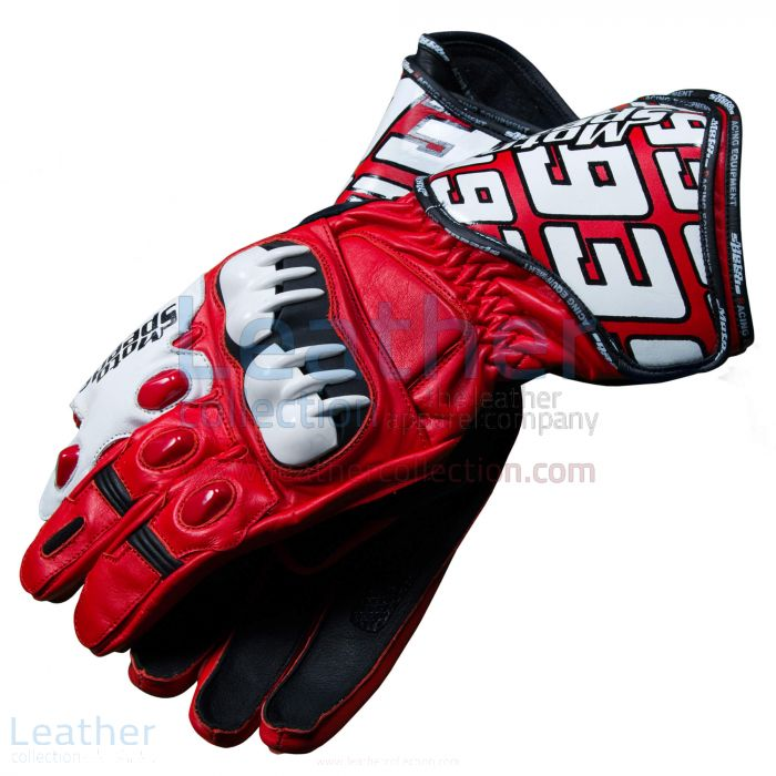 Grab Now Honda Repsol 2013 Marquez Leather Gloves for $225.00