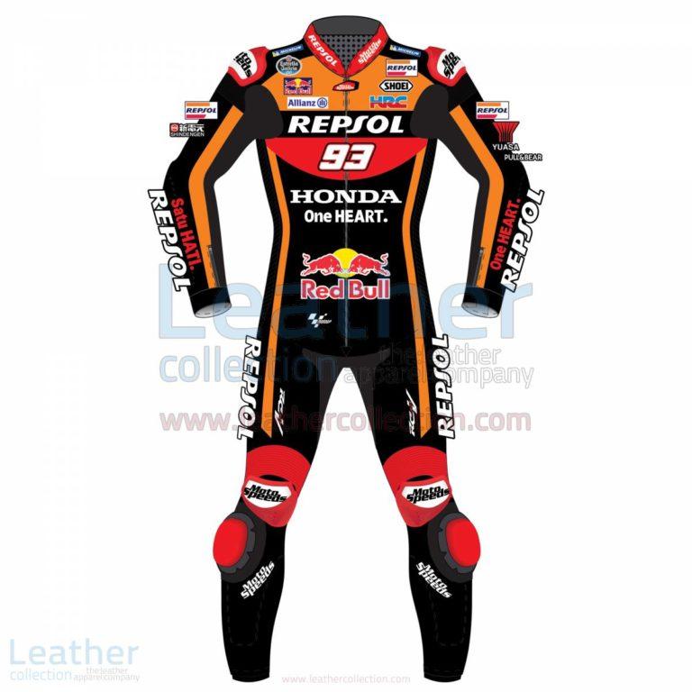 Marc Marquez 93 Honda Repsol Black Suit 2017