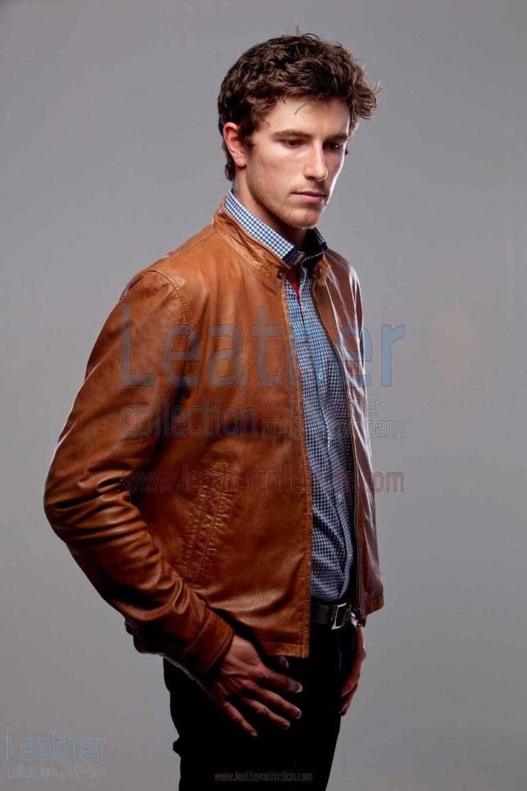 Slick Leather Jacket Men