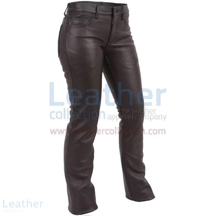 Personalizza ora Jeans Stile Pantaloni di Pelle a Vita Bassa €116.96