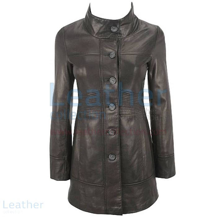 Order Now Ladies 3/4 Length Coat With Trapunto Stitched Waist for ¥33