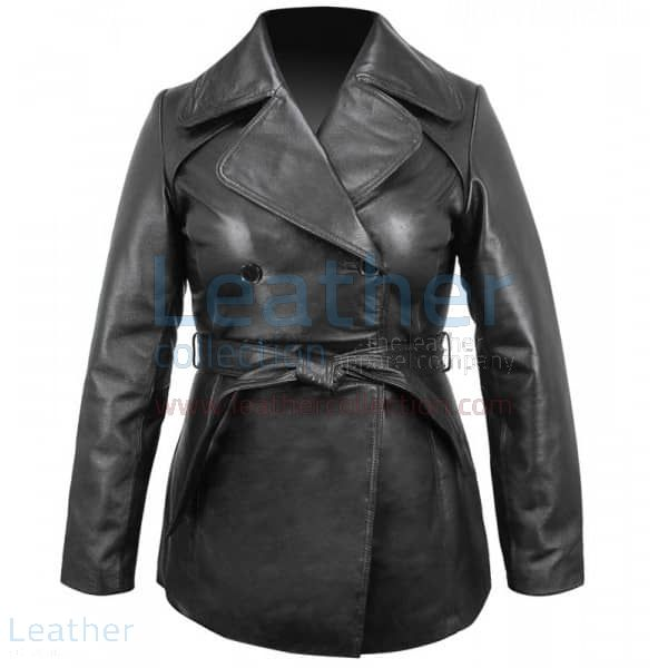 Belted Pea Coat | Buy Now | Leather Collection