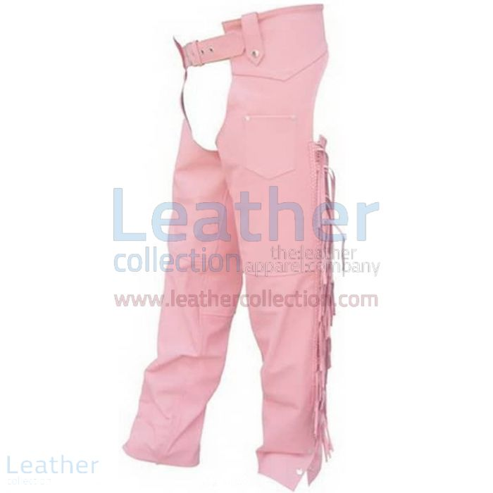 Braided Leather Chaps – Pink Leather Chaps | Leather Collection