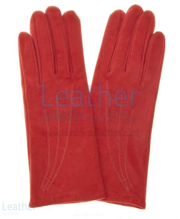 Compra Guantes De Ante – Guantes Cuero Roja – Leather Collection