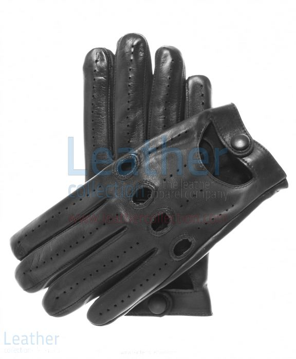 Pick Lambskin Driving Gloves Black for SEK484.00 in Sweden
