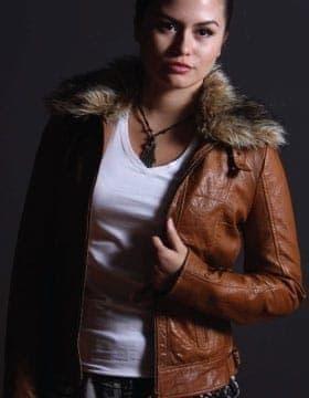 Jacken Für Frauen – Jacke mit Pelzkragen Damen | Leather Collection
