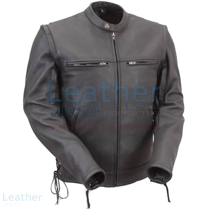 Get Leather Moto Jacket with Zip-Off Sleeves for SEK2,015.20 in Sweden
