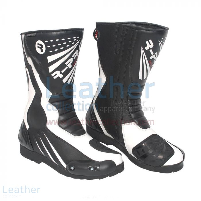 Moto Boots Black & White | Buy Now | Leather Collection