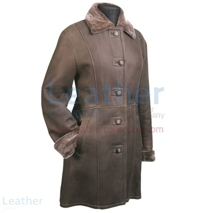 Get Now Long Leather Fur lined Coat for ¥33,488.00 in Japan