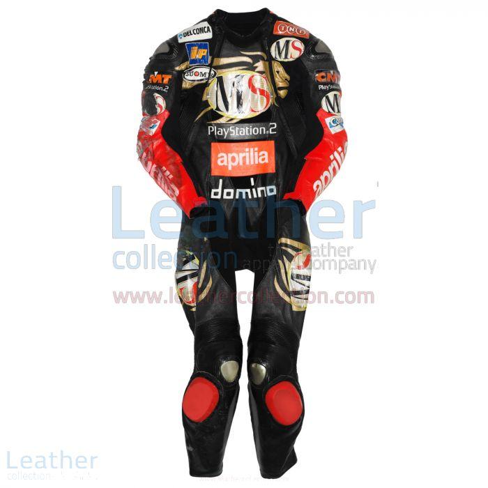 Get Manuel Poggiali Aprilia GP 2003 Leather Suit for $899.00